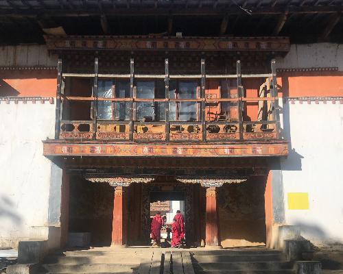Gangtey Monastery Bhutan monks