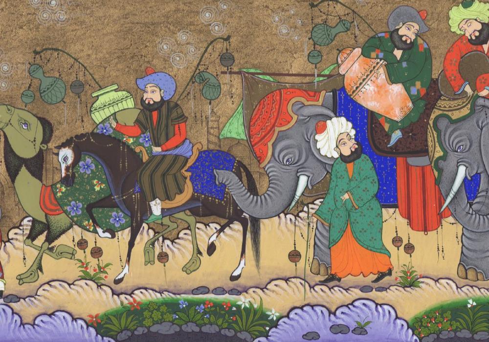 Miniature painting Uzbekistan