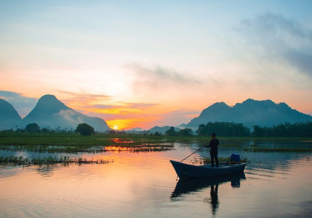 Timah Tasoh Lake, Perlis, Malaysia