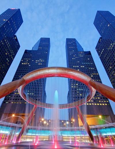Singapore's Lucky Fountain